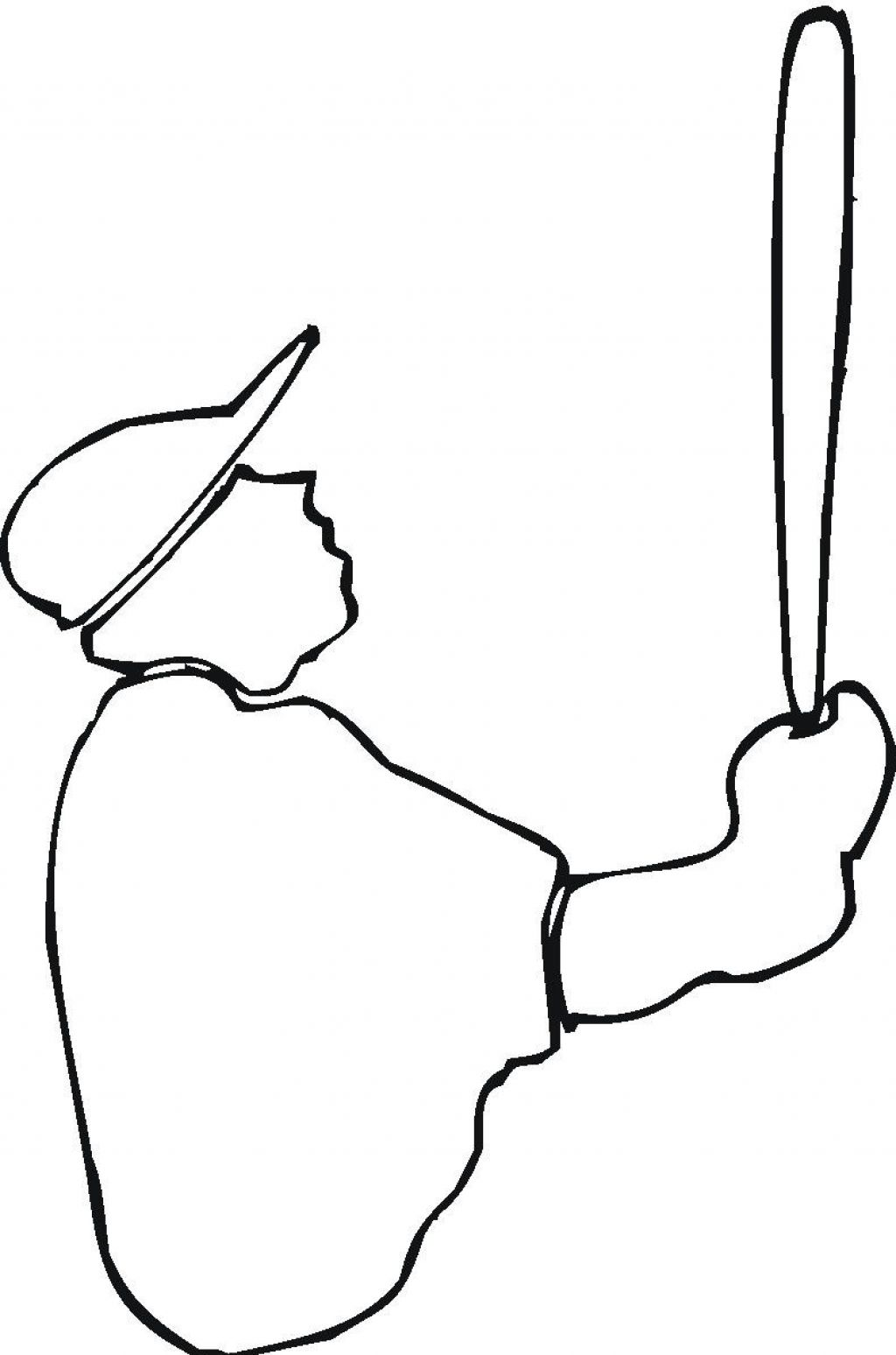 Person Outline Coloring Page