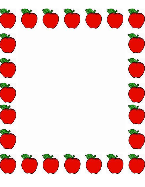 apple borders teachers clipart