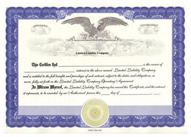 Interest Certificate Template