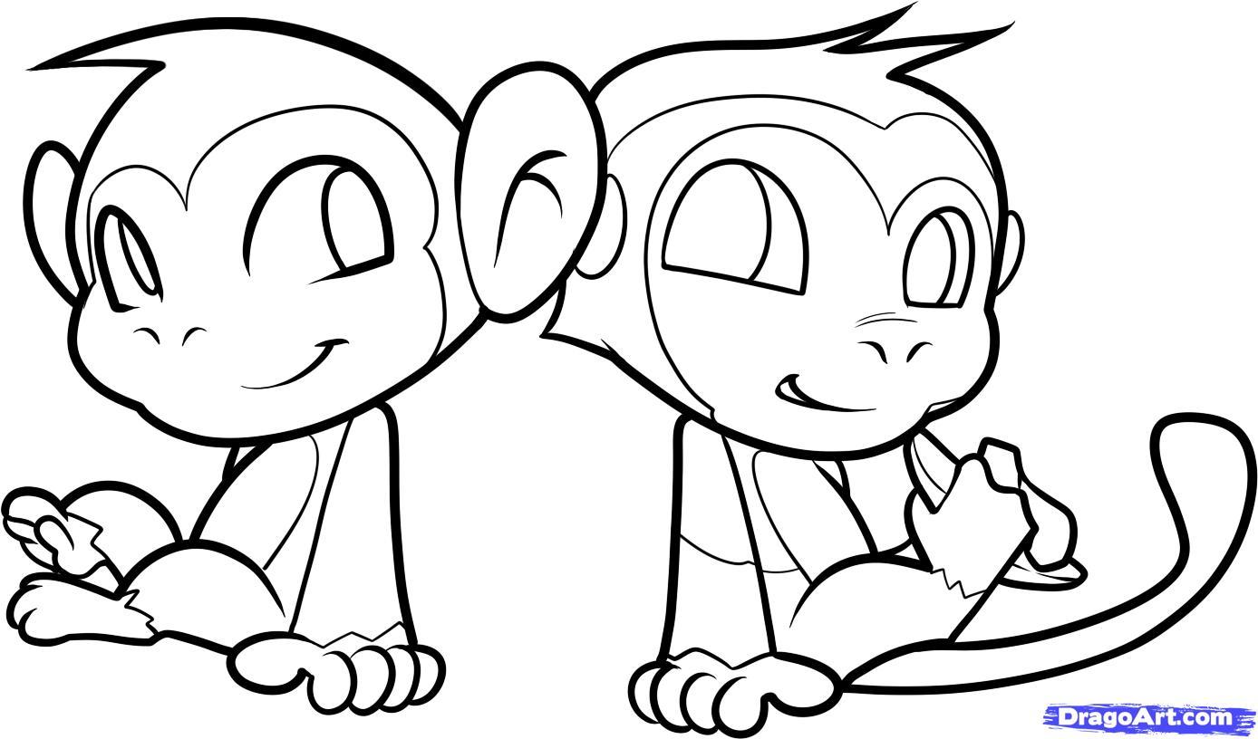 Monkeys Drawings