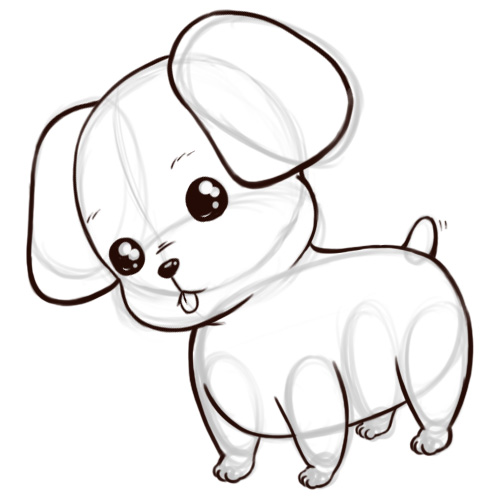 Cute Puppy Cartoon Drawing Clip Art Library
