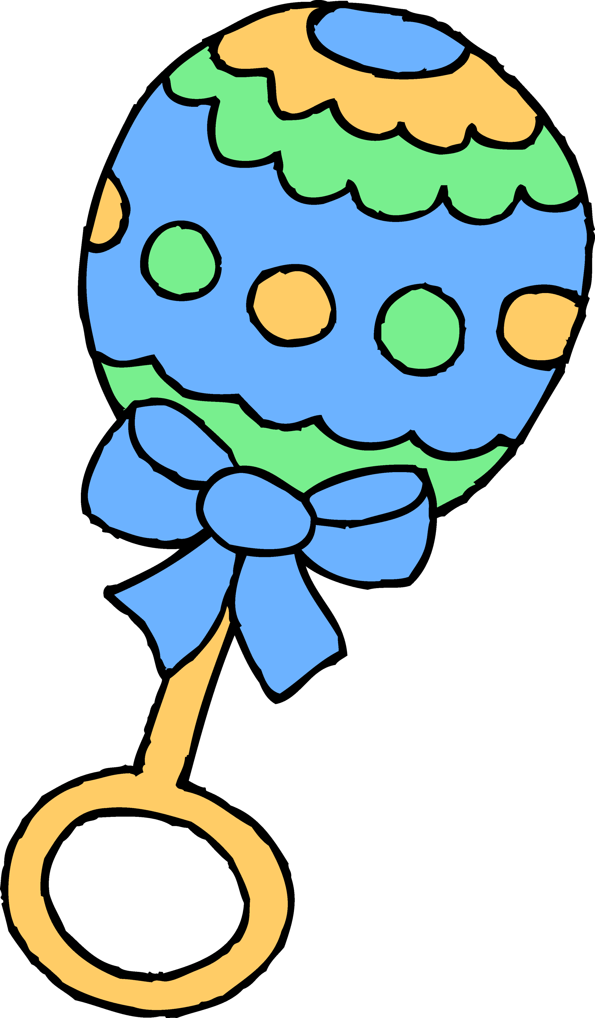 hight resolution of blue baby boy rattle free clip art