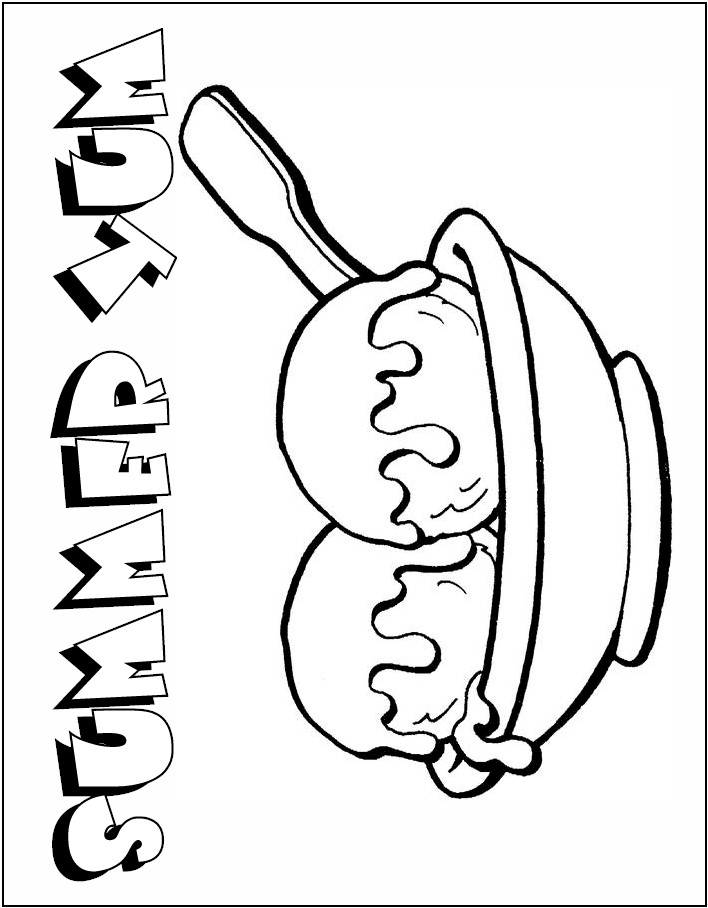 sundae dish Colouring Pages
