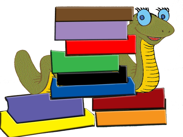 Book Worm Clipart Black And White Library - Free