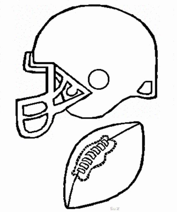 Football coloring pages and pictures for School and Home