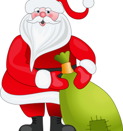 santa claus with green bag png clipart [ 1667 x 2200 Pixel ]