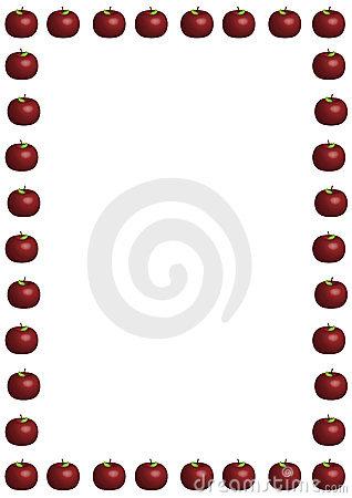 teacher apple border clipart