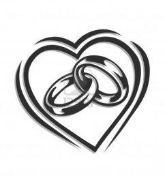 trends for interlocking wedding rings clip art [ 1176 x 1200 Pixel ]