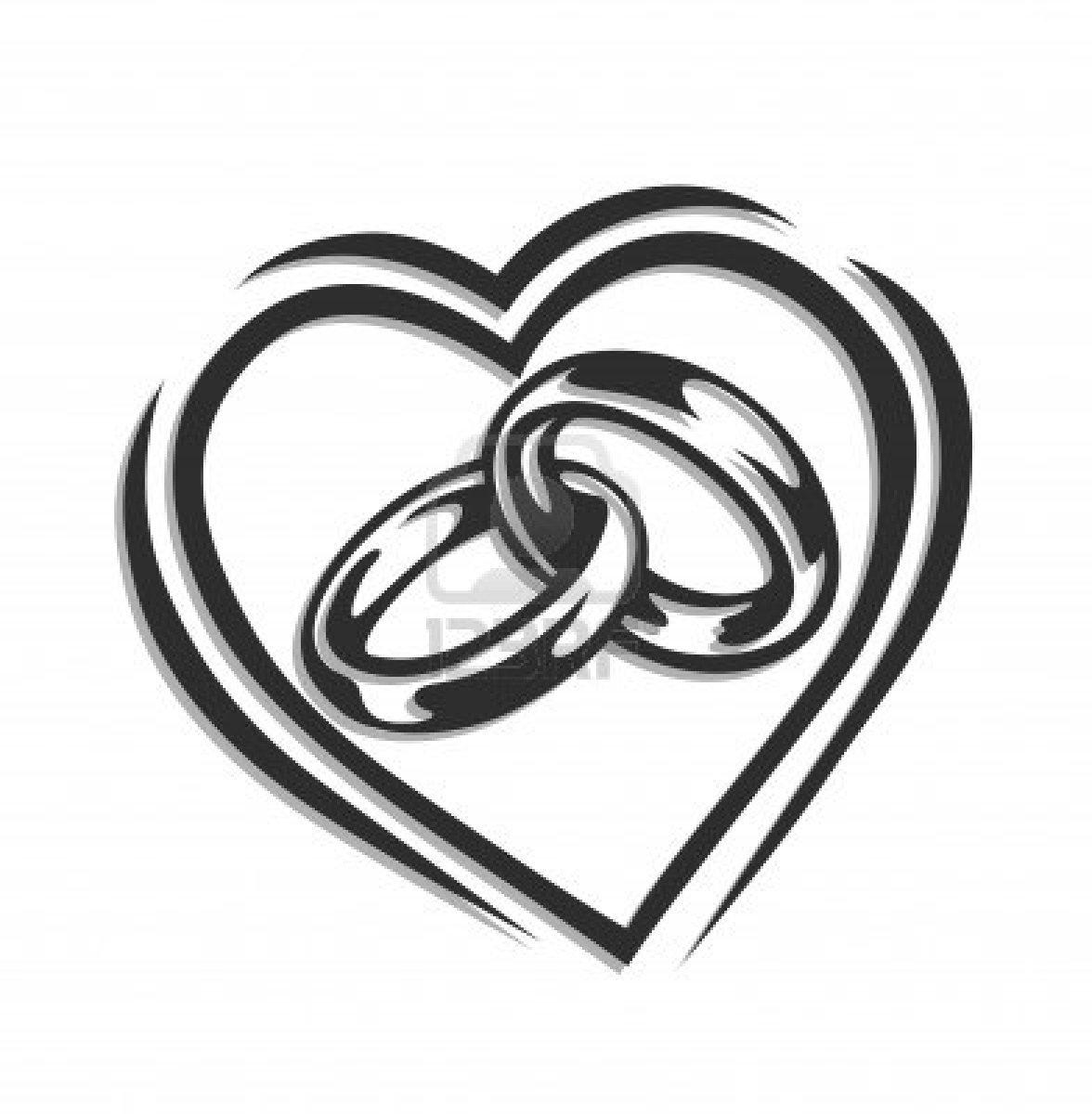 hight resolution of trends for interlocking wedding rings clip art