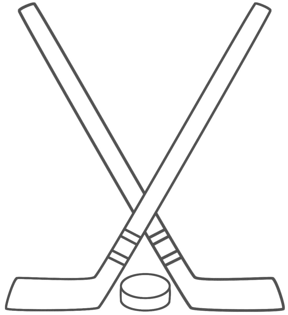 hight resolution of free hockey stick clipart