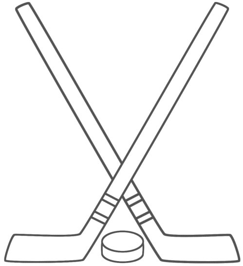 small resolution of free hockey stick clipart
