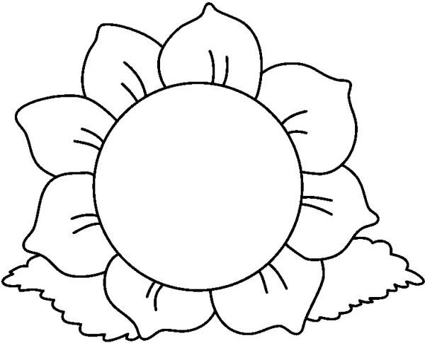black white flower clip art 02