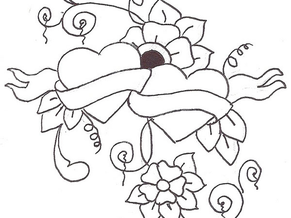 Free Simple Flower Sketch, Download Free Simple Flower