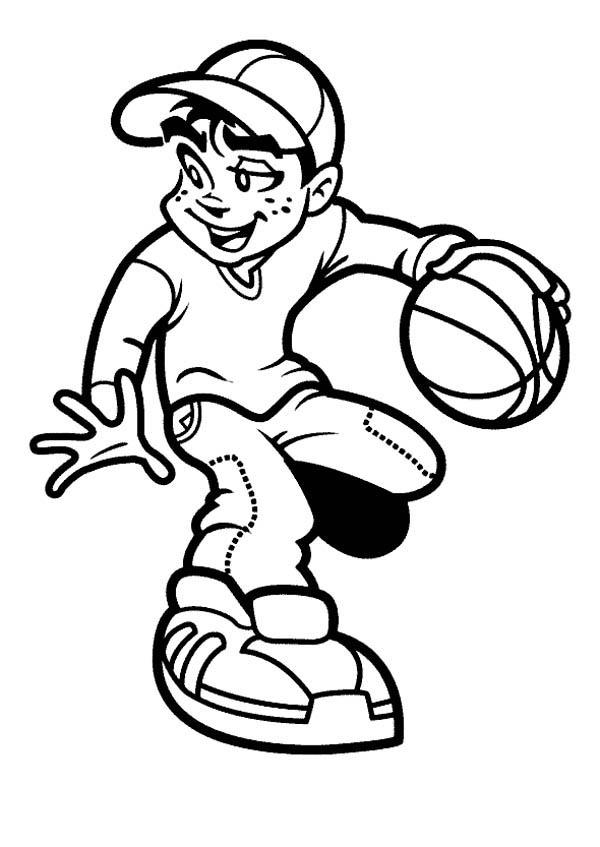 Free Cartoon Basketball Player, Download Free Clip Art