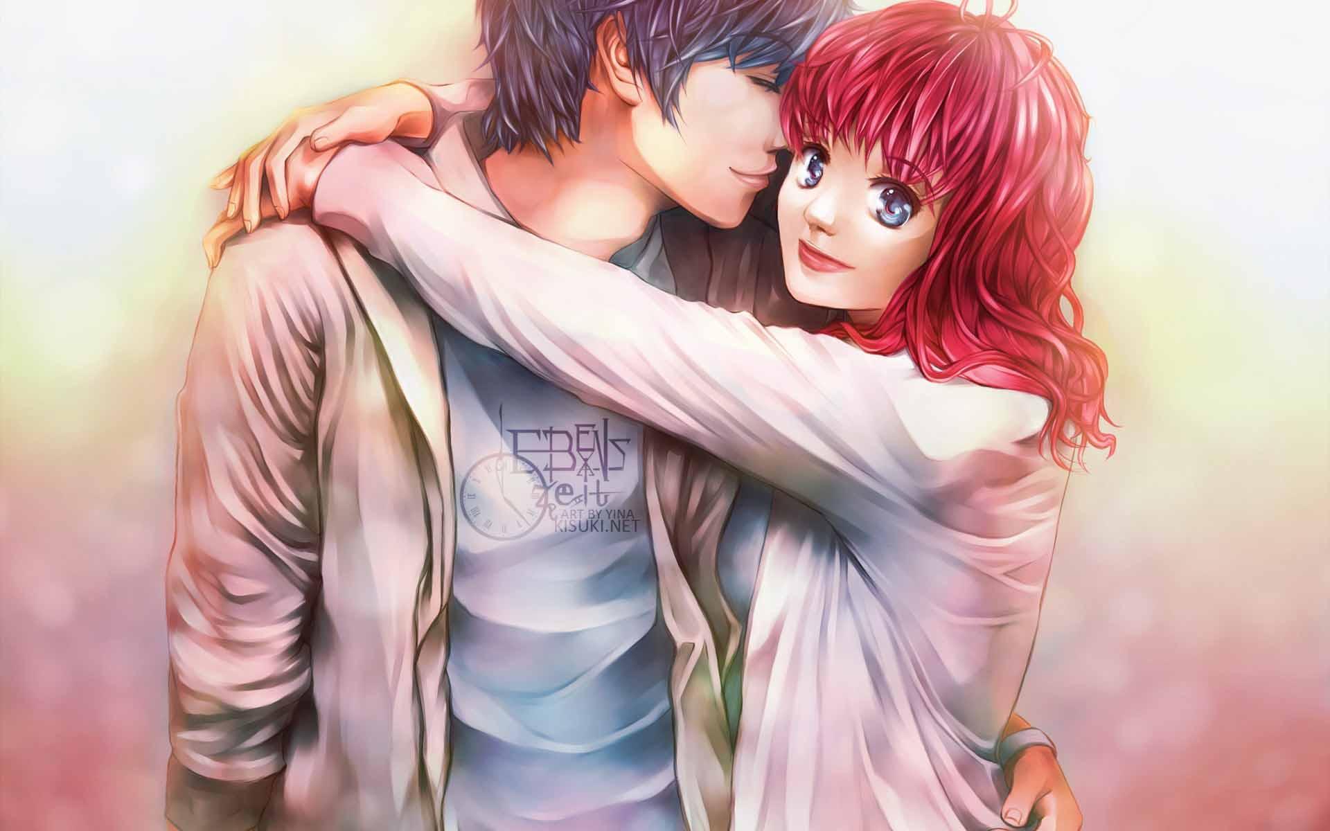 free cute couple cartoon