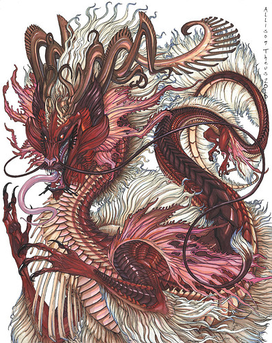 Dragon Drawing Color : dragon, drawing, color, Chinese, Dragon, Drawing, Color, Library