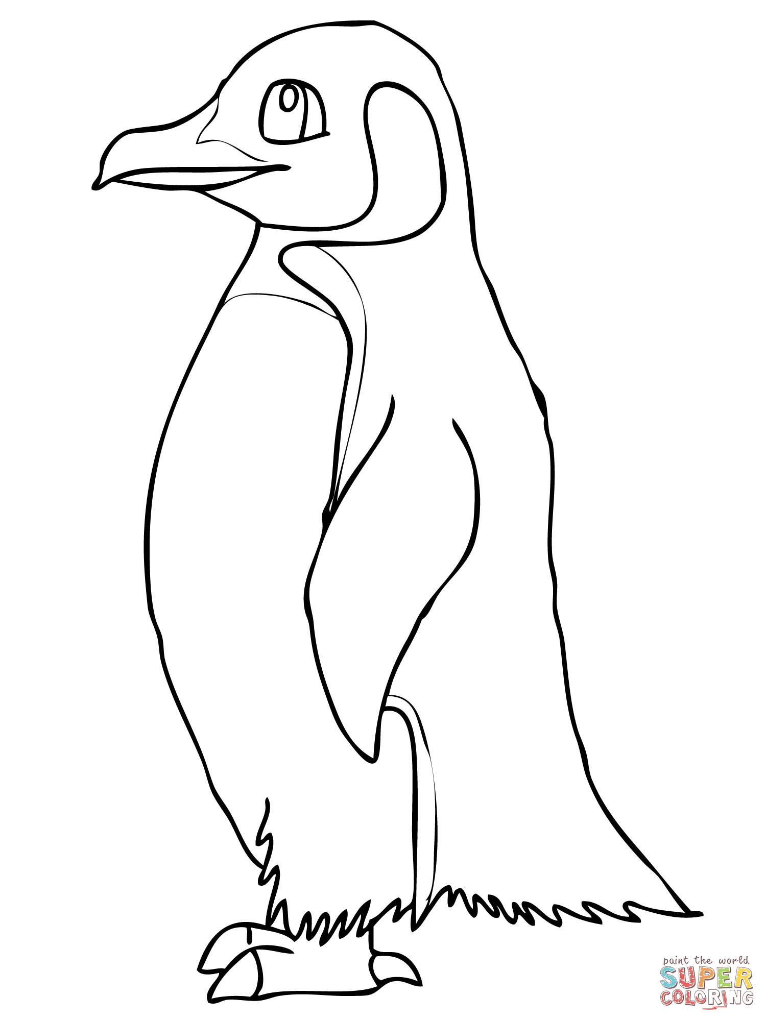 Penguin Coloring Pages : Cute Penguin Family Coloring Page