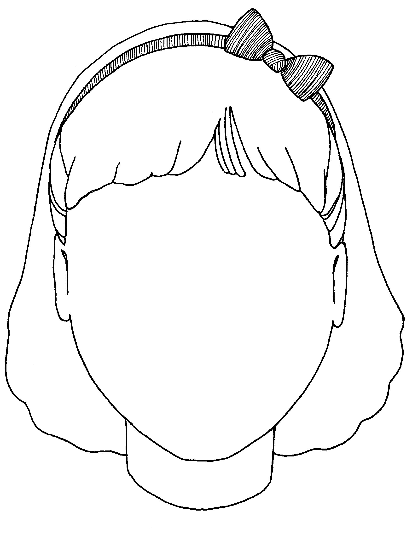 Free Outline Of A Girls Face, Download Free Clip Art, Free