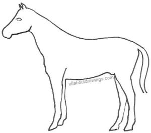 horse drawing drawings simple sketch pencil outline head template clipart realistic sketches running library clip illustration way allaboutdrawings