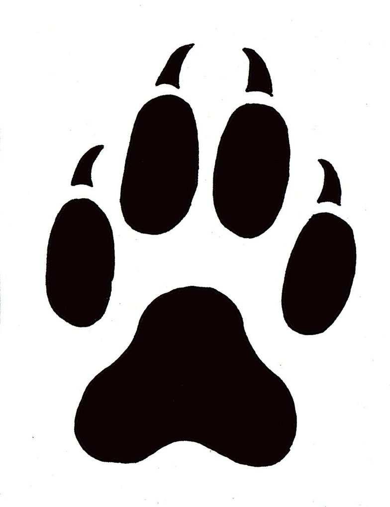 Cute Cat Paw Drawing : drawing, Print, Library