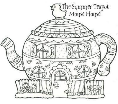 Free Teapot Coloring Book, Download Free Clip Art, Free