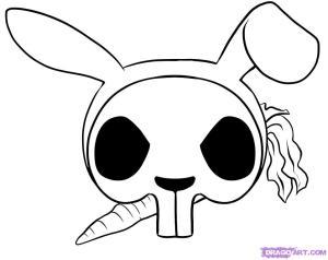 skull easy draw cool drawings drawing rabbit step things skulls skeleton symbols bunny clipart cartoon sugar cliparts flower library pop