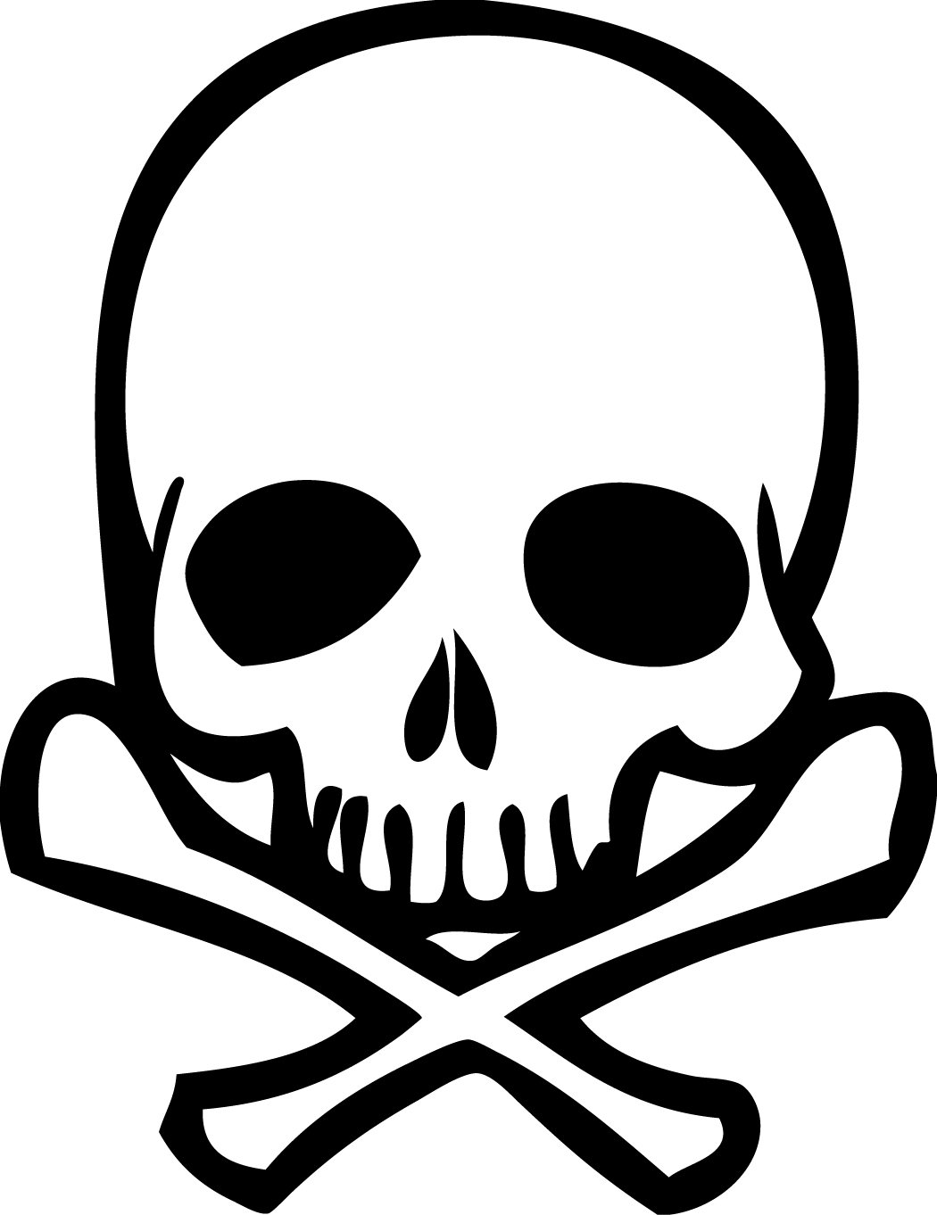 Simple Skeleton Face Drawing Clip Art Library