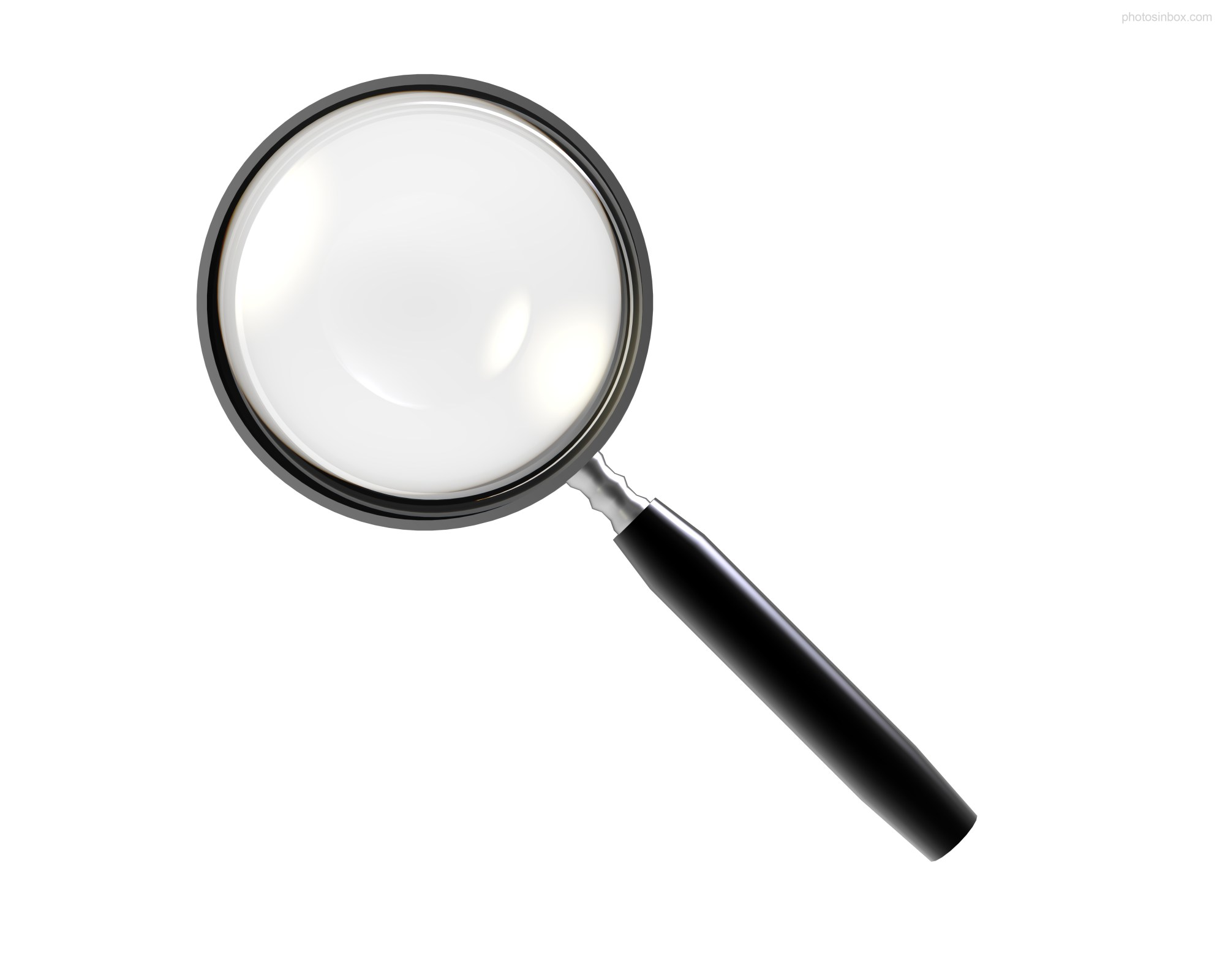 hight resolution of magnifying glass photosinbox