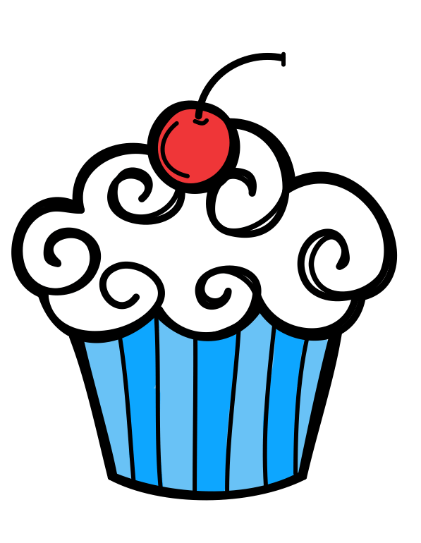 free birthday cupcake clipart