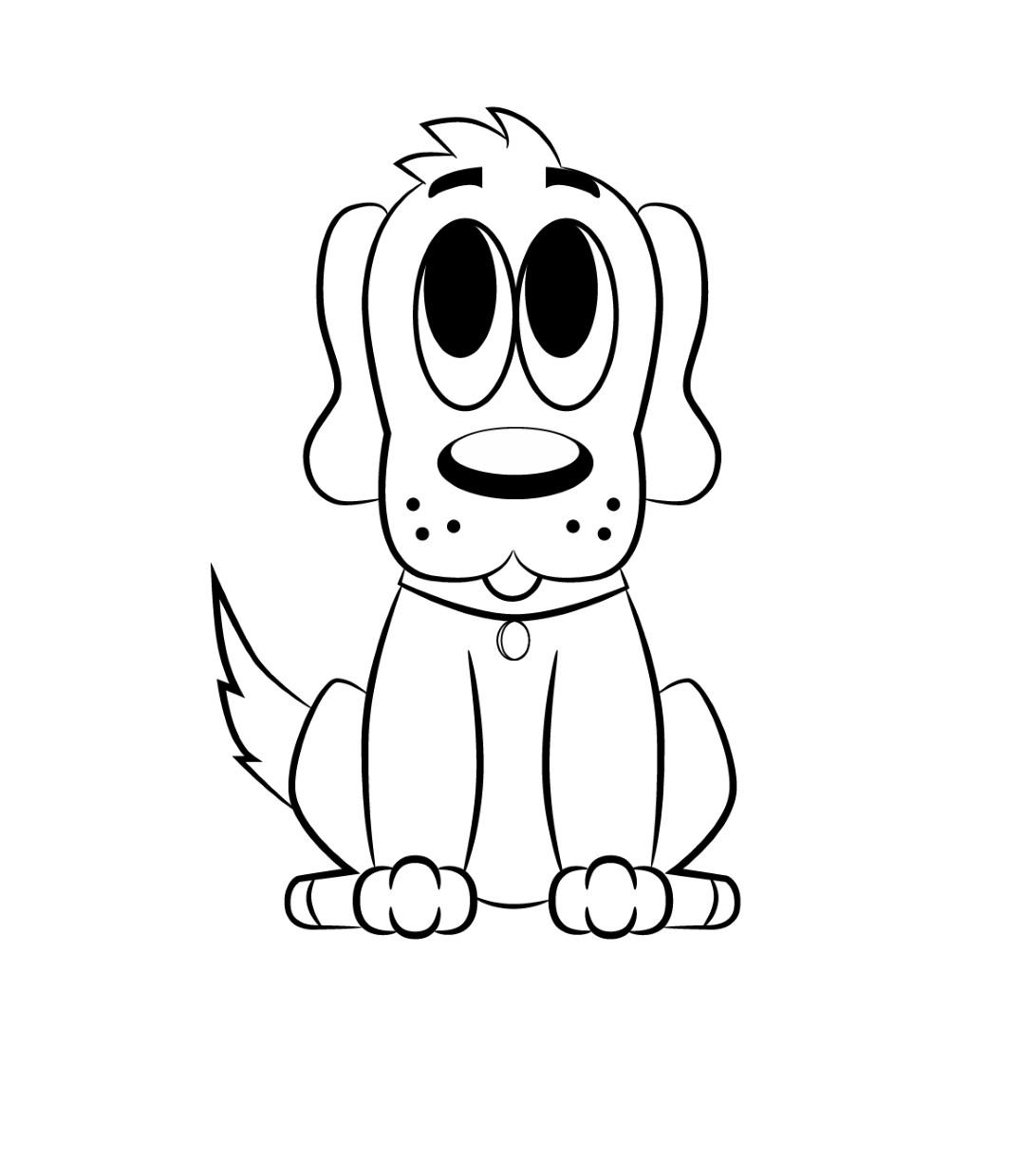 Free Dog Cartoon Drawings Download Free Clip Art Free
