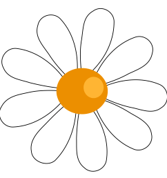 daisy images clip art clipart library [ 3333 x 3176 Pixel ]
