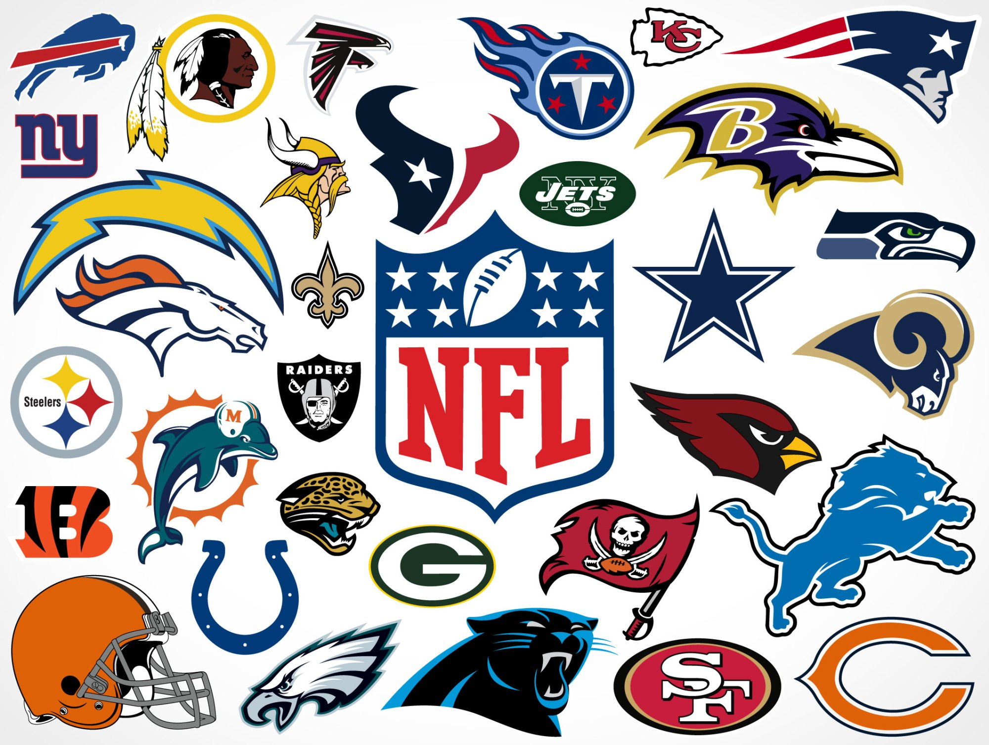 hight resolution of national football league team vector logos market your psd