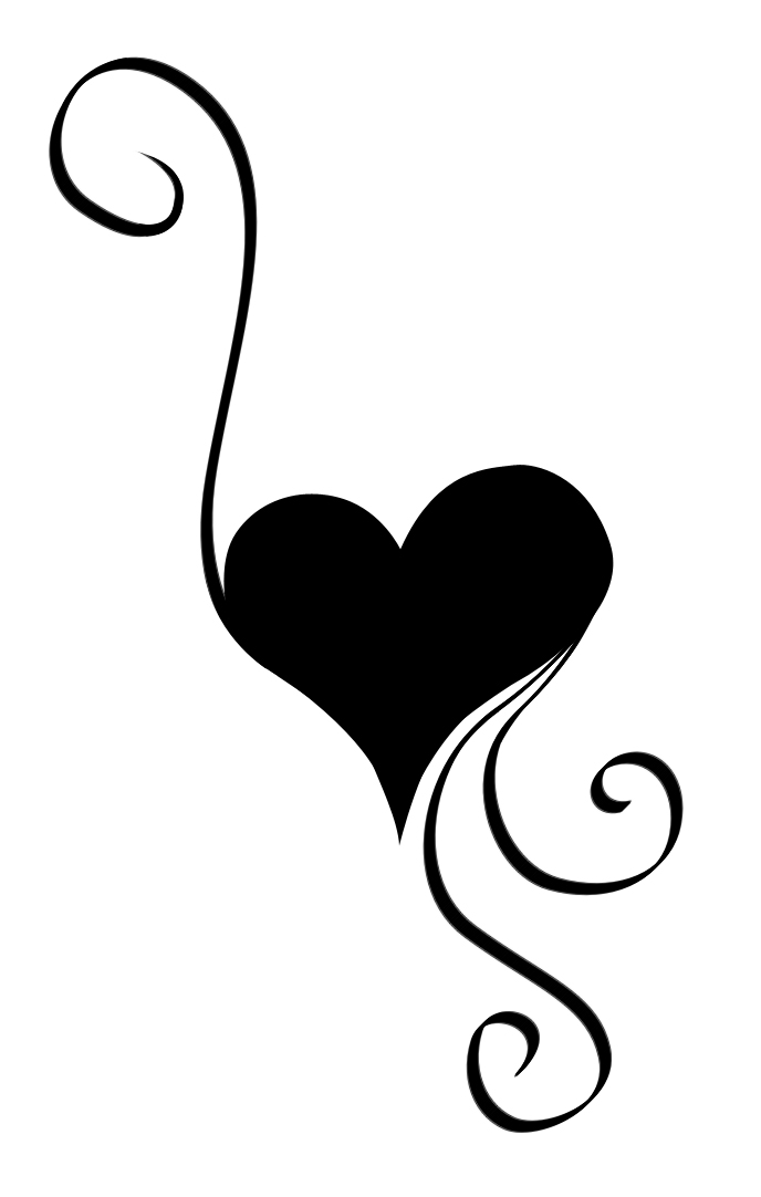 Black And White Heart Tattoo : black, white, heart, tattoo, Black, White, Heart, Tattoo,, Download, Clipart, Library