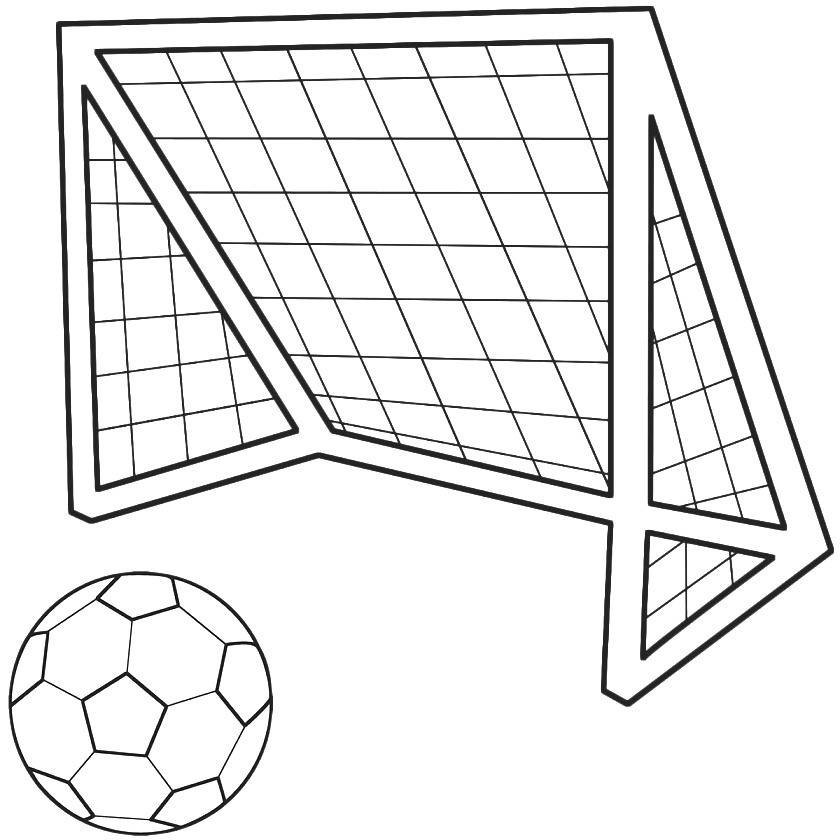 Free Soccer Goal Drawing, Download Free Clip Art, Free