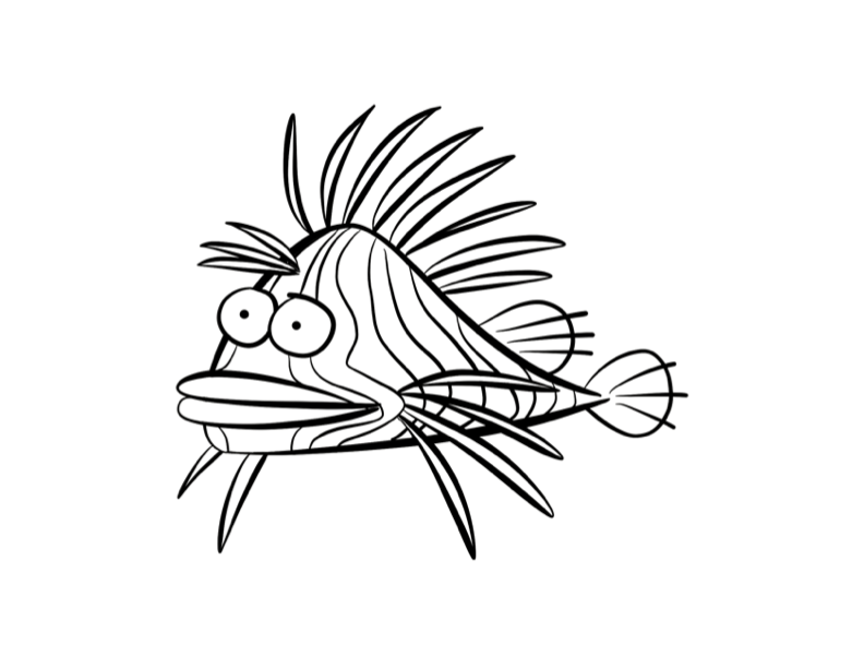 lion fish Colouring Pages