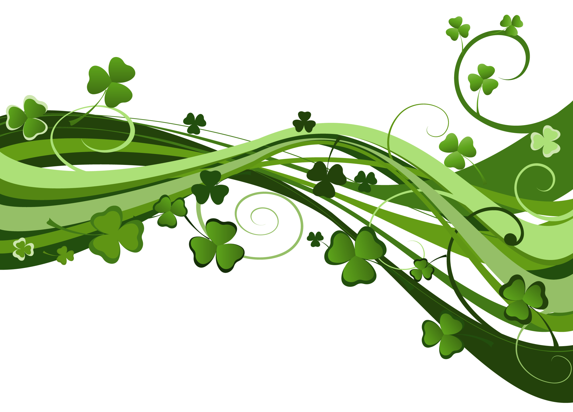 hight resolution of st patricks day shamrock decor png clipart
