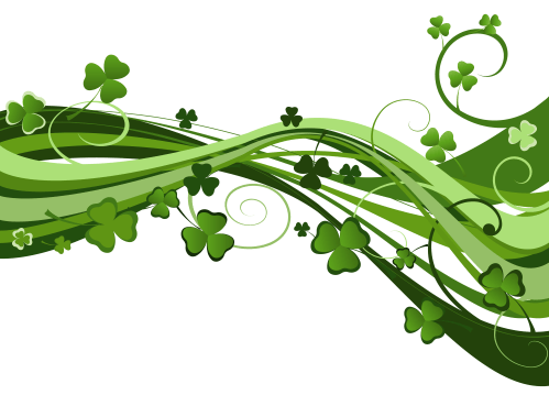 small resolution of st patricks day shamrock decor png clipart