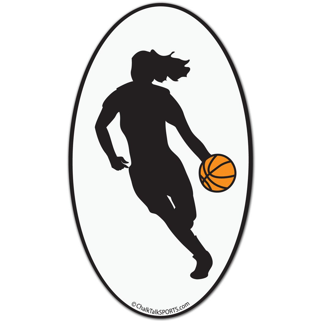 Girl Basketball Silhouette
