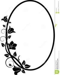 clipart library flower frame horizontal border