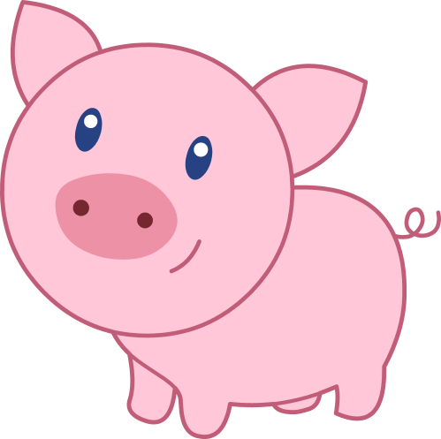 small resolution of cute happy pink pig free clip art