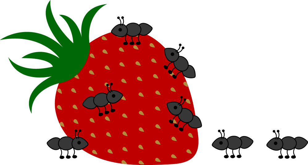 medium resolution of ants crawling on strawberry free clip art