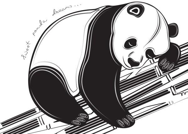 Free Tribal Panda Tattoo Clip Art