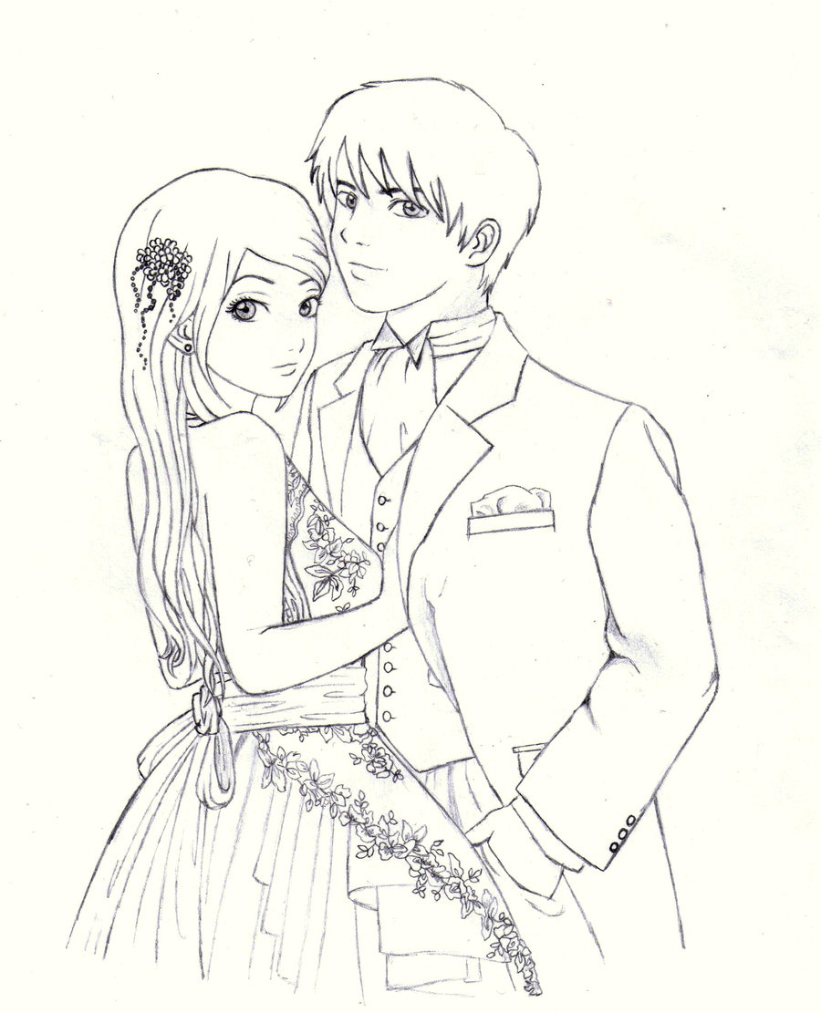 Cartoon Couple Drawing : cartoon, couple, drawing, Cartoon, Couple, Draw,, Download, Clipart, Library