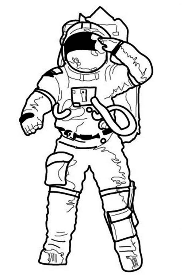 Astronaut Coloring Page Cake Ideas and Designs