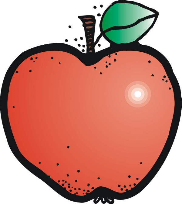 Free Teacher Apple Clipart Clip Art