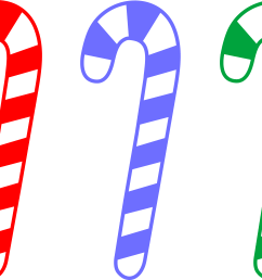 red blue and green candy canes free clip art [ 6544 x 4831 Pixel ]