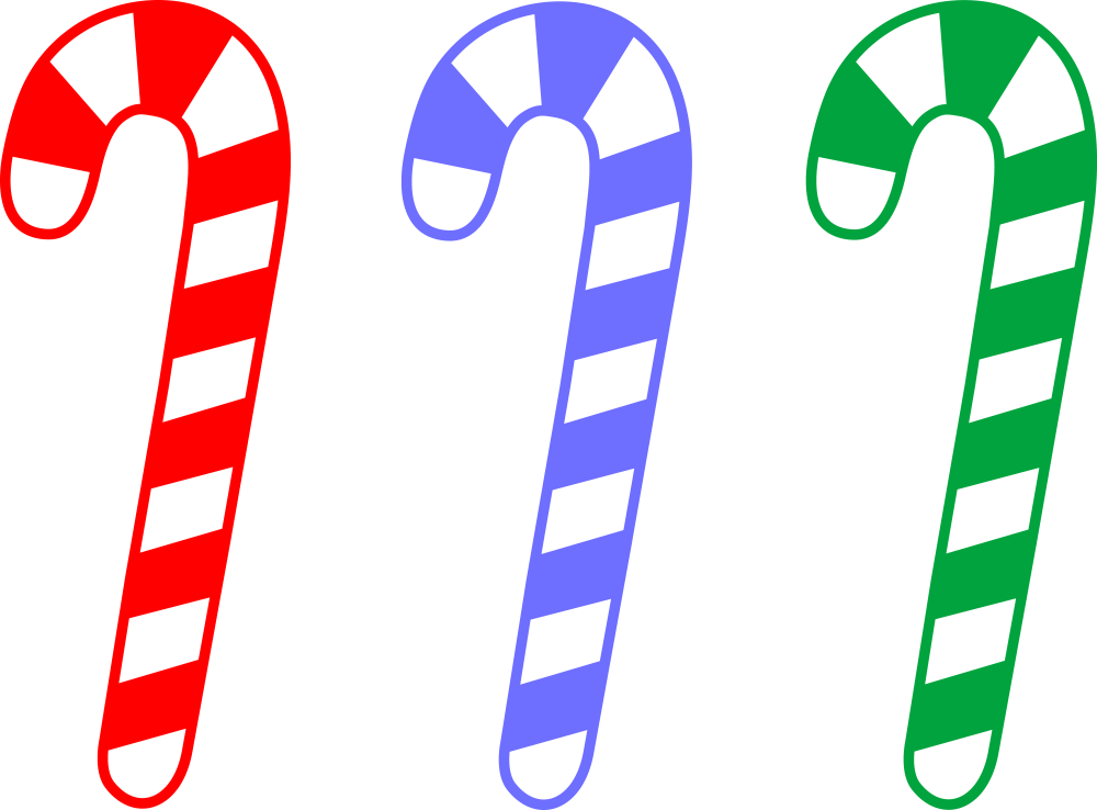medium resolution of red blue and green candy canes free clip art