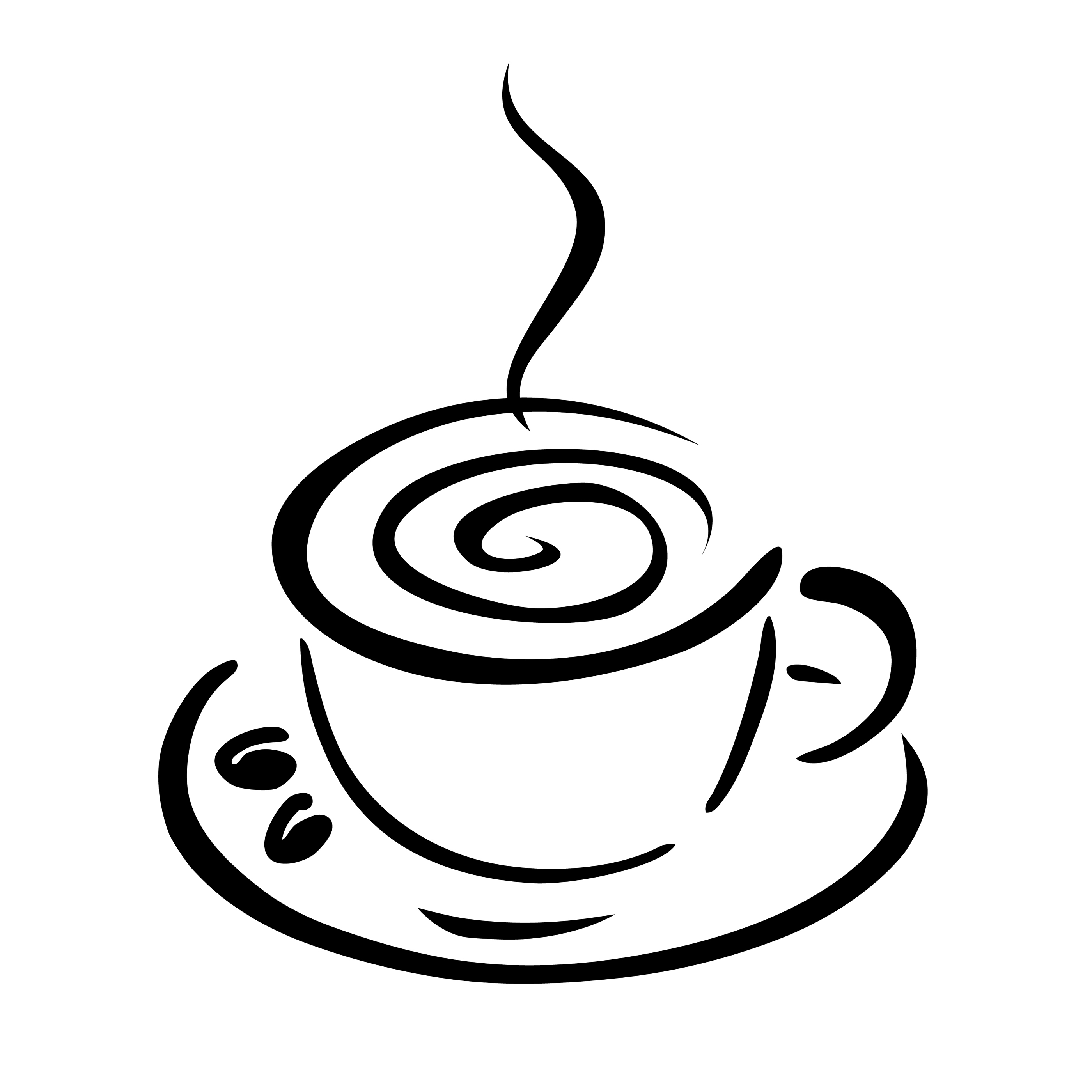 Coffee Cup Clip Art Black White Clipart Library