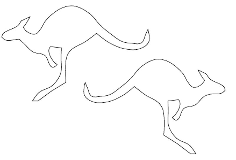 Free Kangaroo Outline, Download Free Clip Art, Free Clip