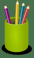 clipart pencil library cartoon pen holder